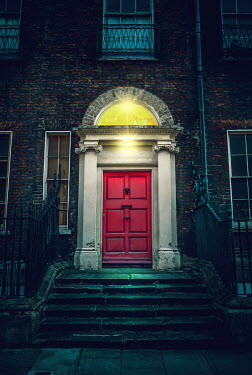 Magdalena Russocka doorway of historical house with lights
