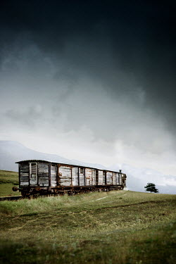 Yolande de Kort HISTORICAL TRAIN IN CLOUDY COUNTRYSIDE Railways/Trains