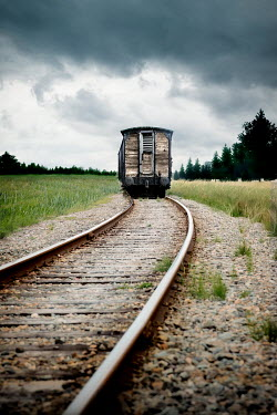 Yolande de Kort HISTORICAL TRAIN ON COUNTRYSIDE TRACKS Railways/Trains