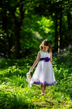 Maggie McCall LITTLE GIRL WITH TOY IN SUMMERY COUNTRYSIDE Children