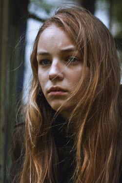 Dmitriy Bilous SAD TEENAGE GIRL WITH LONG BLONDE HAIR Women