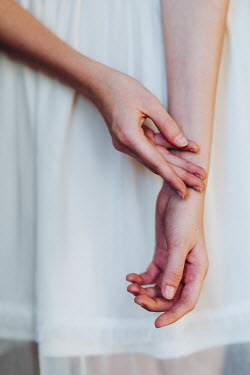 Daniel Bidiuk FEMALE HANDS WITH WHITE DRESS Women