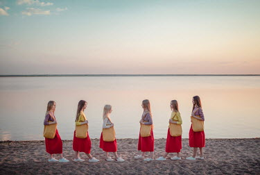Dasha Pears SIX GIRLS IN RED DRESSES Children