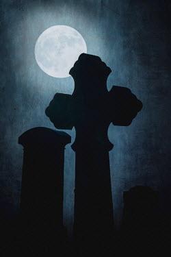 Peter Chadwick GRAVESTONES AND BRIGHT MOON Statuary/Gravestones