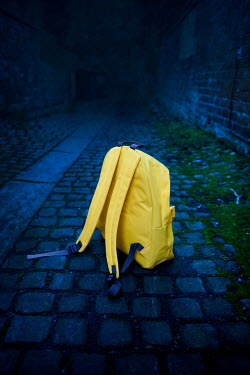 Lee Avison abandoned yellow rucksack Miscellaneous Objects