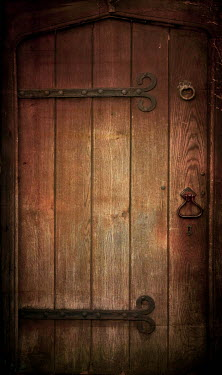 Peter Chadwick OLD WOODEN DOOR WITH IRON HINGES Building Detail