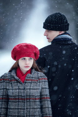 Magdalena Russocka young couple in snowy countryside Couples