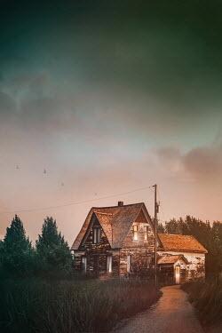 Sandra Cunningham OLD WOODEN FARMHOUSE Houses