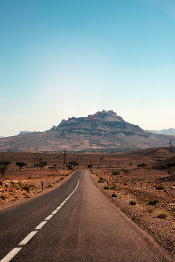 Stanislav Solntsev DESERT ROAD TOWARDS MOUNTAINS Roads