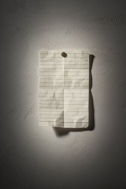 Ysbrand Cosijn BLANK LINED PAPER PINNED TO WALL Miscellaneous Objects