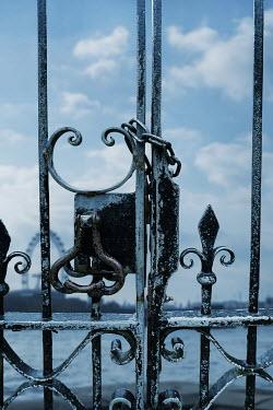 Stephen Mulcahey LOCKED METAL GATE NEAR RIVER Gates