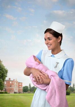 Lee Avison NURSE HOLDING BABY BY GRAND HOUSE Women