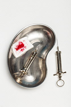 Jasenka Arbanas SYRINGES WITH DISH AND BLOODY BANDAGE Miscellaneous Objects