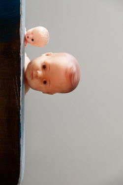 Maria Petkova TWO RETRO DOLL'S HEADS ON TABLE Miscellaneous Objects