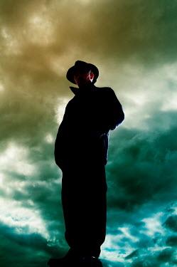 Valentino Sani SINISTER MAN WEARING HAT IN STORM Men