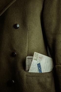 Magdalena Russocka letter in soldiers uniform pocket