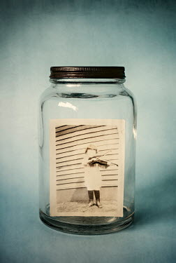 Amy Weiss SPOOKY PHOTOGRAPH OF CHILD INSIDE JAR Miscellaneous Objects