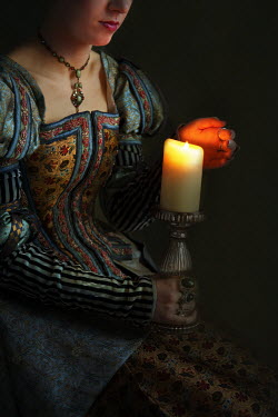 Lee Avison tudor woman with candle Women