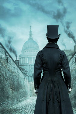 Stephen Mulcahey VICTORIAN MAN LOOKING AT ST PAULS CATHEDRAL Men