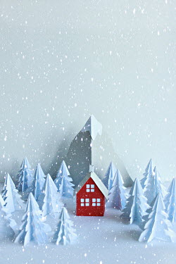 Jasenka Arbanas PAPER HOUSE MOUNTAINS AND TREES IN SNOW Miscellaneous Objects