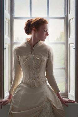 Lee Avison HISTORICAL WOMAN SITTING AT WINDOW Women