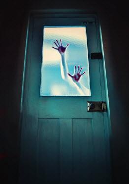 Lyn Randle BLOODY HANDS ON GLASS DOOR Women