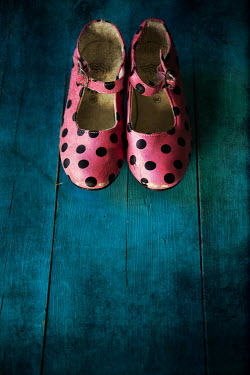 Maria Petkova close up of pink spotty shoes Miscellaneous Objects