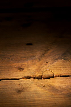 Peter Chadwick WEDDING RING IN CRACK OF FLOORBOARDS Miscellaneous Objects