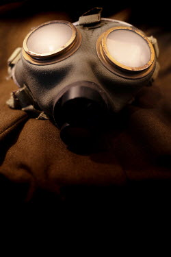 Peter Chadwick CLOSE UP OF HISTORICAL GAS MASK Miscellaneous Objects