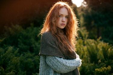 Dmitriy Bilous GIRL WITH RED HAIR IN COUNTRYSIDE Women