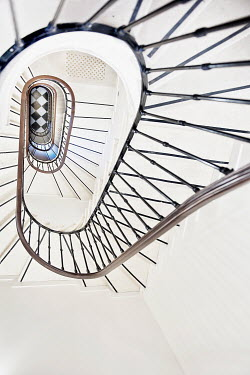 Christine Amat RETRO STAIRCASE FROM ABOVE Stairs/Steps