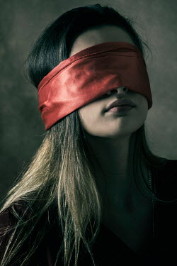 Mohamad Itani CLOSE UP OF BLINDFOLDED GIRL Women