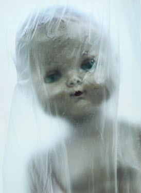 Mark Owen DOLL LOOKING THROUGH PLASTIC SHEET Miscellaneous Objects