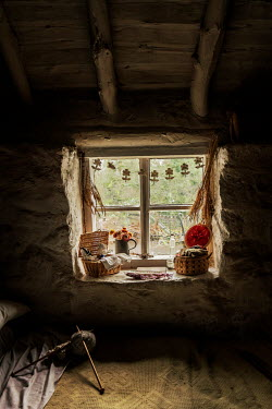 Stephen Mulcahey Interior view, inside a farm workers cottage