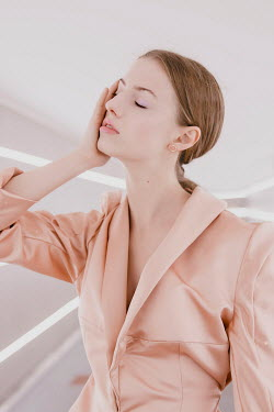 Greta Larosa TIRED WOMAN IN PINK JACKET Women