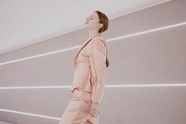 Greta Larosa MODERN WOMAN IN PINK SUIT Women