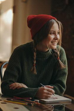 Arkadiy Nigmatulin SMILING WOMAN DRAWING PICTURE Women