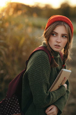 Arkadiy Nigmatulin YOUNG WOMAN WEARING RED HAT Women