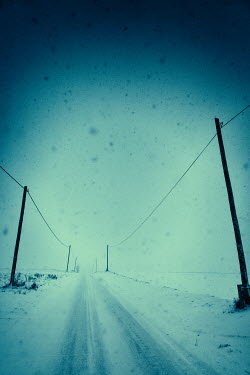 Magdalena Russocka country road in blizzard Roads