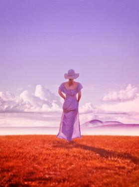Mary Wethey WOMAN WALKING IN FIELD Women