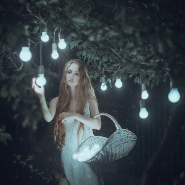 Anya Anti WOMAN PICKING LIGHT BULBS FROM TREE Women