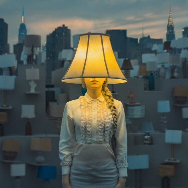 Anya Anti WOMAN WITH LAMPSHADE COVERING HEAD Women