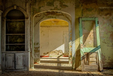 Rodney Harvey INTERIOR OF LARGE DERELICT HOUSE Interiors/Rooms