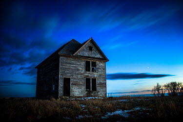 Rodney Harvey DERELICT WOODEN HOUSE AT SUNSET Houses