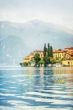Evelina Kremsdorf HOUSES ON ITALIAN LAKE IN SUMMER Lakes/Rivers