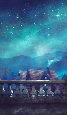 Drunaa BALUSTRADES AND HOUSES WITH STARRY SKY Villages