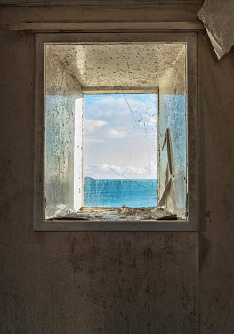 David Baker DERELICT BUILDING BY SEA WITH WINDOW Building Detail