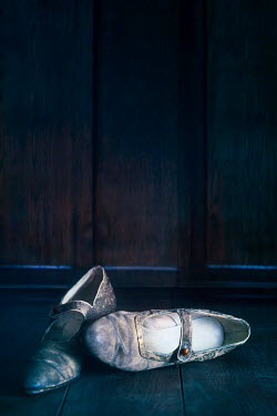 Sandra Cunningham VINATE SHOES ON WOODEN FLOOR Miscellaneous Objects