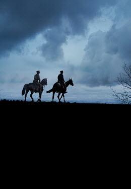 Stephen Mulcahey Two ww1 cavalry officers on horseback Men