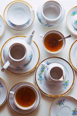 Krasimira Petrova Shishkova floral tea set from above